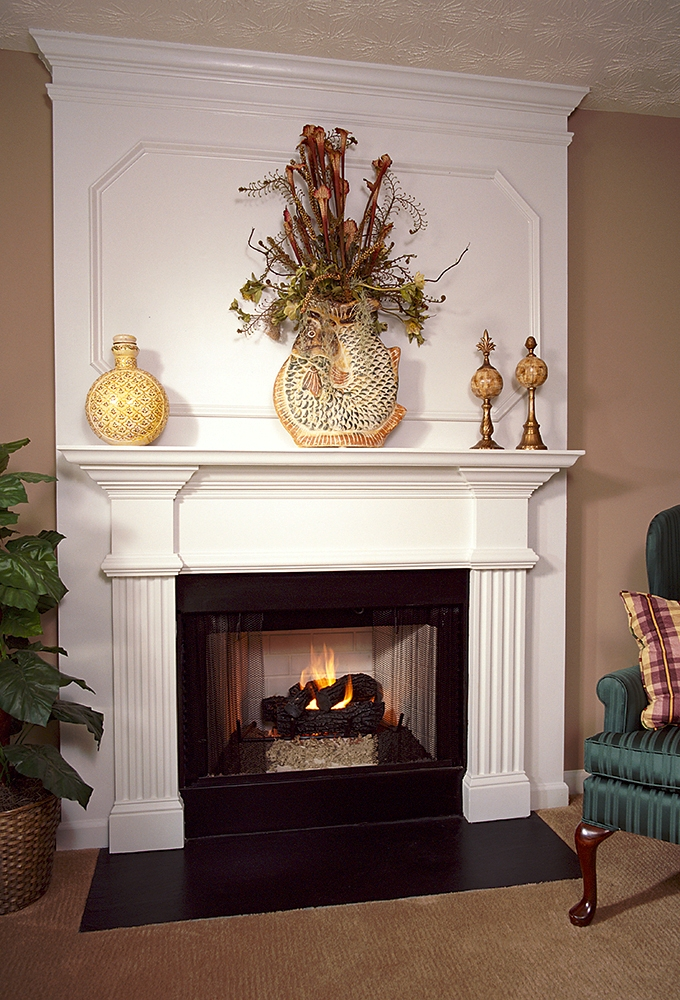 Candler 36A Plaster Fireplace Mantel - Image