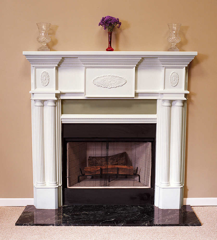 Peachtree 36 Tall Plaster Fireplace Mantel